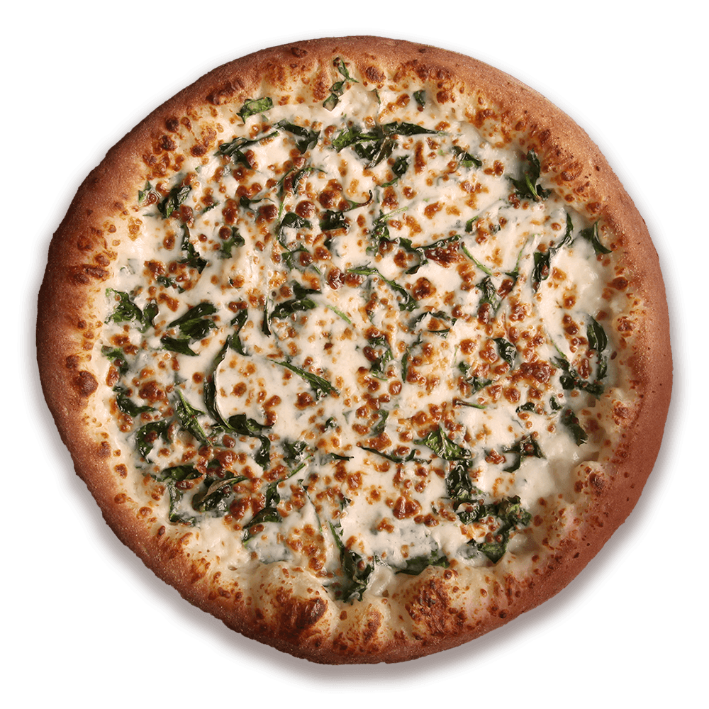 Spinach Alfredo Pizza at Speedy's Pizza